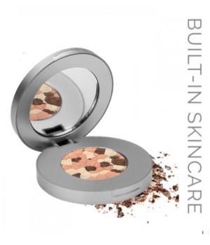 Компактные тени-румяна с 3D эффектом LOOkX Eyeshadow Sparkling 123