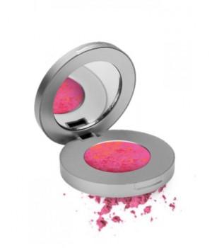 Компактные тени-румяна c 2D эффектом LOOkX eyeshadow Hot pink 04