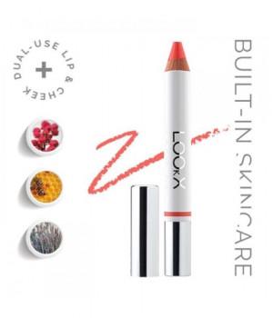 Супер-стик для экспресс-макияжа помада+румяна+контур LOOkX Lip & blush stick Caribana