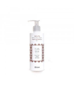 Моделирующий крем для укладки вьющихся волос Керл Крем Арган и Макадамия (блеск, фиксация и ухоженность завитков, используется также под диффузор) / Curl Cream Argan and Macadamia