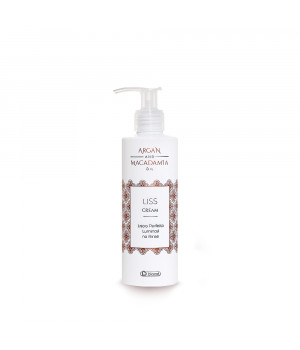 Увлажняющий крем для укладки плотных и вьющихся волос с эффектом термозащиты BIACRE MACADAMIA ARGAN LISS CREAM