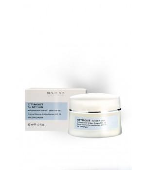 Гиалуроновый крем для лица защитный для стрессовой кожи Beauty Spa City Moist SPF 15