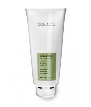 Лечебная маска для лица для проблемной кожи 3в1 Beauty Spa Acid Green Mask